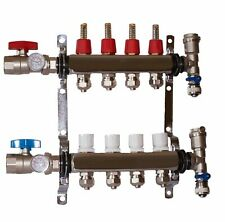 4 Loop 1 Stainless Steel Manifold For Radiant Heating For 12 Pex Tubing