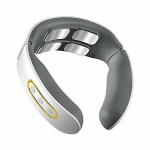 Electric Wireless Smart Neck Massager TENS Pulse - With Heating Function (White)