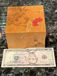 Liberty Of London Wood Trinket Box Chinese Floral Motif Lined PURCHASE IN LONDON