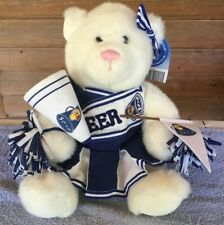 Adorable Build A Bear Cheerleader Bear. Blue and White Outfit Plush