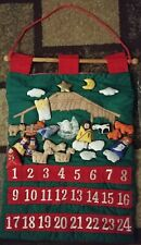"""Vintage NEW, Advent Calendar With Mouse Christmas Countdown, 30"""" * RARE !!"""