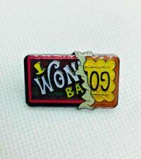 Wonka Bar Golden Ticket Retro Movie Metal Enamel Pin Badge