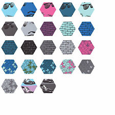 252 Fabric Hexagons - diecut from a Moda Layer Cake - Dapper Prints by Luke