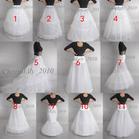 BRIDAL wedding petticoat underskirt crinoline prom dress bridal slip hoop skirt