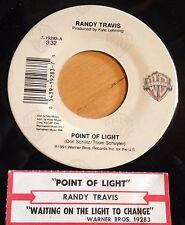 Randy Travis 45 Point Of Light /Waiting On The Light To Change w/B.B. King  w/ts
