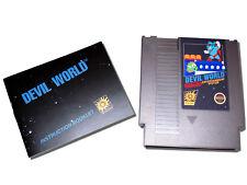 Devil World for Nintendo NES & Instruction Manual Booklet Lot Famicom