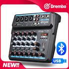 Drembo M-6 Mini Mixer Audio DJ Console  with Sound Card, USB, 48V Phantom Power