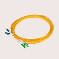 5M Fiber Optic Cable Patch Cord SM 2 core Duplex LC/APC-LC/UPC 9/125 ftth CATV