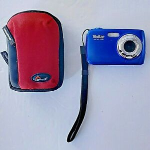 Vivitar Model 7122 7.1MP 7122 Point And Shoot Digital Camera Blue With Case
