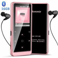 Hommie MP3 Player Bluetooth 16GB FM Radio Portable HiFi Music Player Rose Gold