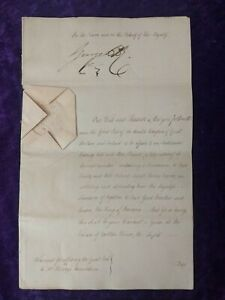 1816 King George III warrant hand signed by Prince reagent future King George IV
