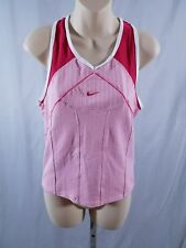 Nike Fit Dry Tank Top Racerback Pink Womens Medium 8-10 Fitness Running Active