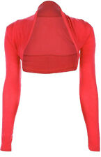 GIRLS PLAIN CROPPED FRENCH VISCOSE GIRLS BOLERO SHRUG CARDIGANS TOP S/M , M/L