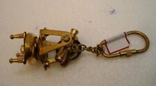 Brass THEODOLITE Key Chain- Collectible Marine Nautical Key Ring (2)