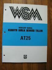 Kubota At25 At 25 Walk Behind Tiller Workshop Service Manual