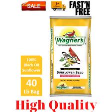 New listing 40 Lb Wagner's Four Season Sunflower Wild Bird Food 100% Black Oil, High Quality