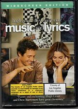 Music and Lyrics Dvd Hugh Grant Drew Barrymore Widescreen Edition