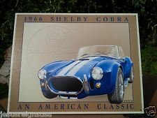 1966 Shelby Cobra Rustic Collectible Tin Metal Classic Sign Poster Garage
