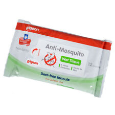 Pack of 12 Pigeon Anti Mosquito Baby Wipes Gentle Wet Tissues 6 Hr Protection