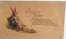 Vintage Postcard A Joyous Easter Mother & Baby Bunny