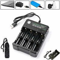 1/2/4 18650 Smart Batería Cargador Recargable Li-ion Vape USB Cargador Rápido