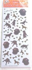 Raza Perro Artesanía Pegatinas Etiquetas-Chocolate Labrador-Scrapbooking Tarjeta Artesanía Etc