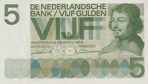 NETHERLANDS   5 Gulden   1966   P 90  XF- aUNC