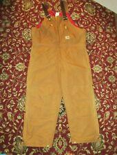Carhartt NEW R38  Arctic Quilt Lined Zip to Waist Bib Overalls Men's 42x28 CR90