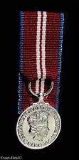Canada Canadian Queen Elizabeth  Diamond Jubilee Miniature Medal Court Mounting