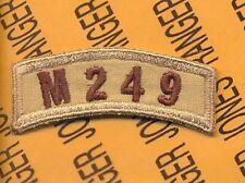 US Army M-249 OIF OEF desert DCU tab arc patch
