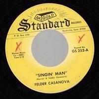 HEAR! Country Bopper 45 FELDER CASANOVA Singin' Man on Standard