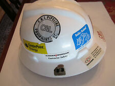 COLLECTIBLE CONSTRUCTION HARD HAT WITH VARIOUS STICKERS