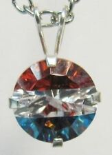 Red, White and Blue Cubic Zirconia Pendant in Silver