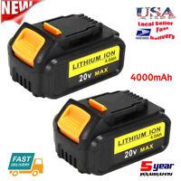 2x For DEWALT DCB205-2 20V 20 Volt MAX XR Lithium Ion 4.0AH Battery Packs DCB200