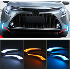 2x LED Front Bumper Fog Light DRL Lamp For Toyota Corolla L LE XLE Sedan 2020-21