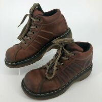 Dr Martens Brown Leather Lace Up 10447 Shoes WOMENS SIZE 7