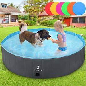 Extra Large Pet Swimming Pool, Non-slip UV-proof PVC Foldable Paddling