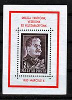HUNGARY - 1953. Death of Josef Stalin - Souvenir Sheet - MNH
