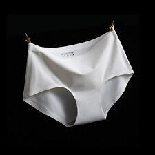 100% Silk Seamless Middle Waist Sexy Ice Womens Underwear  -AUS Post