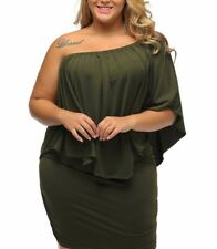 Plus Size Green Sexy Cocktail Dress Multi style 3 in 1 Size XXL US 18 -20