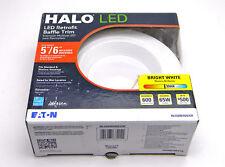 New Halo Recessed RL560WH6835 6 In Recessed 3500K LED Retrofit Baffle Trim White