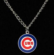 Chicago Cubs Chain Necklace Team Logo Enamel Charm Pendant Jewelry for Men Women
