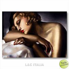 Tamara de Lempicka La dormiente STAMPA TELA 70x50 QUADRO RIPRODUZIONE DORMEUSE