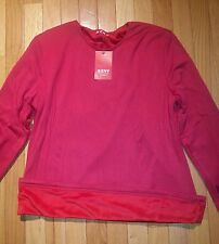 RED LONGSLEEVE FLEECE LINED CHUNKY SWEATER-SIZES 2 TO 12