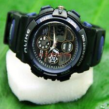 Waterproof Watch Fishing Sport Water Resistant Electronic Wrist Watch Black+Box