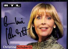Christine Schuberth RTL Autogrammkarte Original Sign## BC 4563