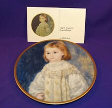 PICKARD CHINA COLLECTOR PLATE CHILD IN WHITE AUGUSTE RENOIR 23 KT GOLD 2ND PLATE