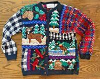 Portraits Northern Isles S Sweater Christmas Winter Motif Hand Knit Small Women