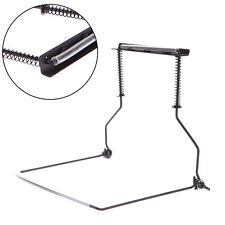 Metal Harmonica Neck Holder Mouth Organ Support Harp Rack Stand 10 Holes Black