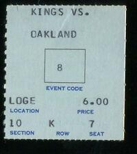 Hockey Ticket Los Angeles Kings  1968 Oakland Seals 11/12 Cali Rivalry